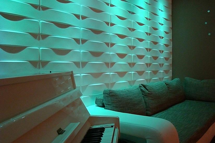 Гипсовые 3д панели для стен.
