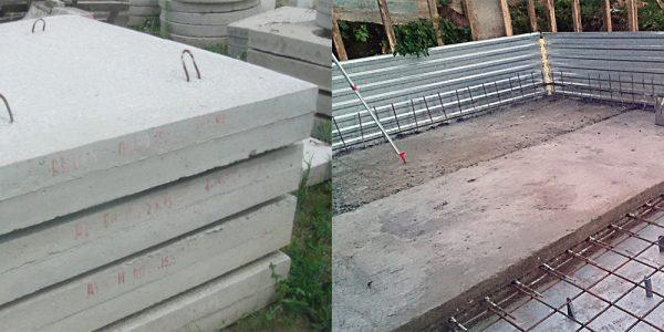 Фундамент на дорожных плитах
